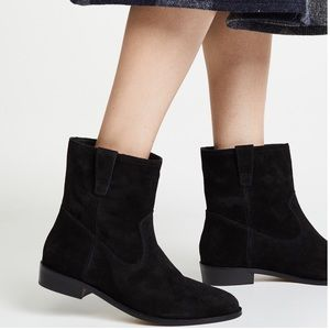 Rebecca Minkoff Chasidy Booties  in Black Suede